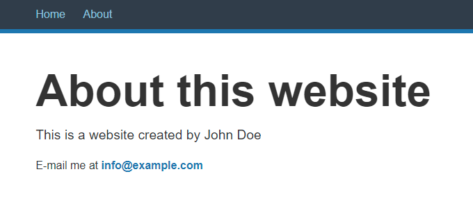 About this website
