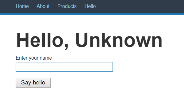 A form with a text field