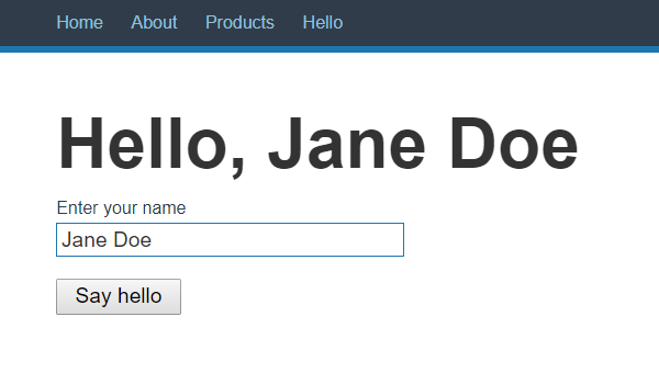 Hello, Jane Doe