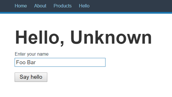 Hello, Unknown